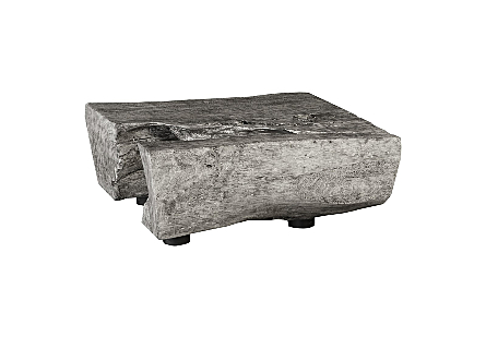 Chamcha Wood Coffee Table Gray Stone