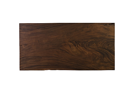 Live Edge Dining Table, Chamcha Wood Perfect Brown