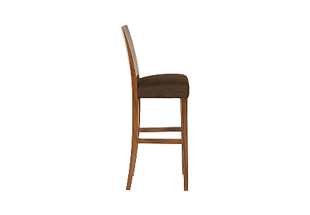 Ophelia Bar Stool Chamcha Wood, Perfect Brown