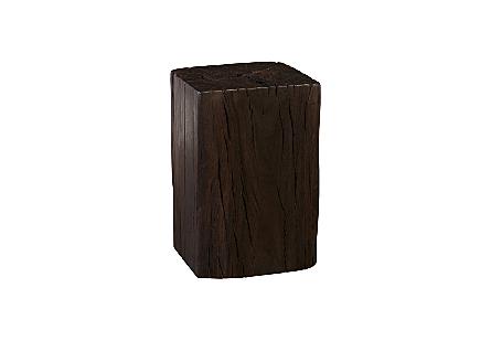 Black Wood Stool