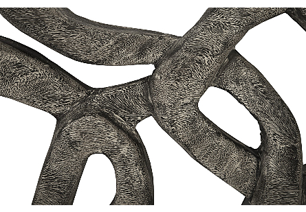 Chain Wall art Chamcha Wood, Grey Stone Finish