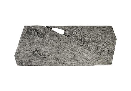 Chamcha Wood Angled Drawing Desk Grey Stone