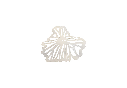 Flower Wall Art Extra Small, White, Metal