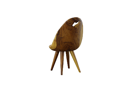 Smoothed Dining Chair Chamcha Wood, Natural