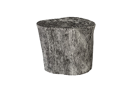 Wood Stool Grey Stone