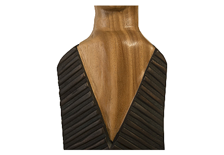 Vested Male Sculpture Natural/Black Copper, SM