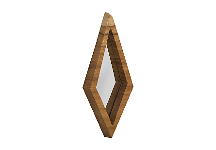 Diamond Chamcha Wood Mirror MD, Natural
