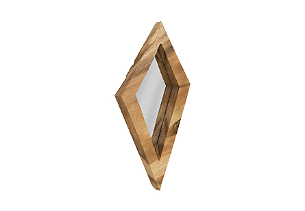 Diamond Chamcha Wood Mirror LG, Natural