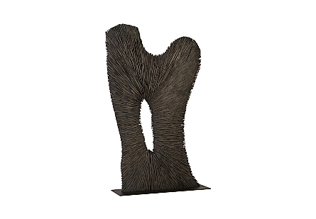 Chainsaw Sculpture on Stand, Black