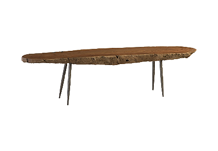 Wood Bench Forged Legs