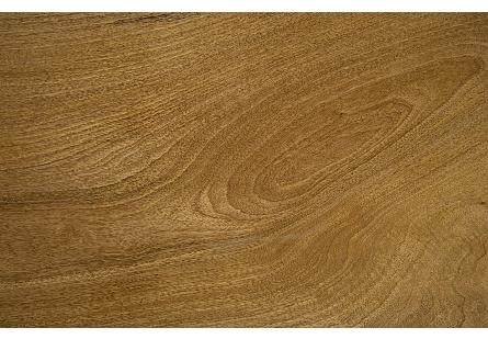 Burled Wood Coffee Table U Shape Legs