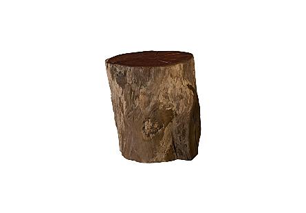 Burled Wood Stool