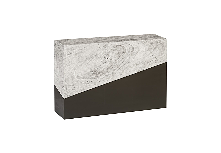 Geometry Console Table Grey Stone