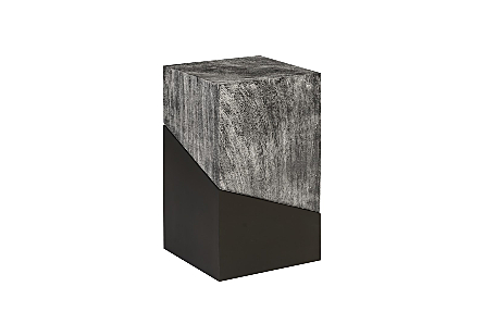 Geometry Side Table Grey Stone