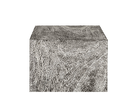Origins Pedestal Large, Mitered Chamcha Wood, Grey Stone Finish