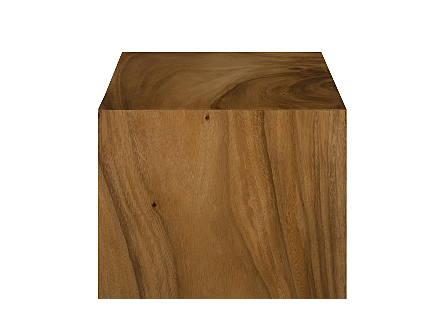 Origins Pedestal Medium, Mitered Chamcha Wood, Natural