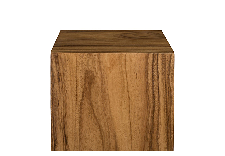 Origins Pedestal Large, Mitered Chamcha Wood, Natural