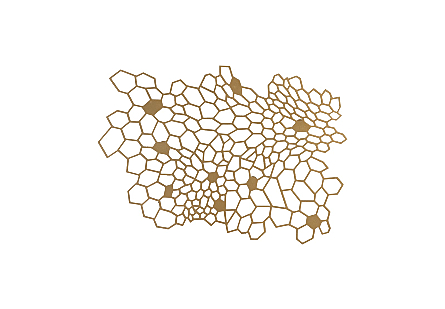 front view of the Honeycomb Small Wall Art by Phillips Collection gold wall art laser cut from metal to look like a hive finished in a metallic hue