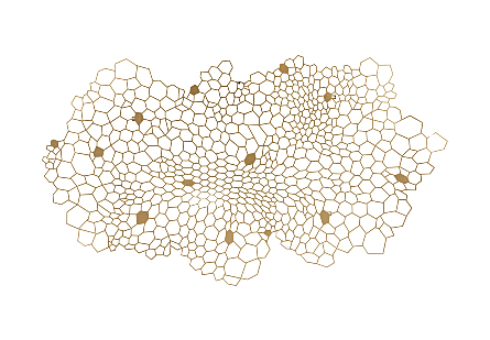 front view of the Honeycomb Large Wall Art by Phillips Collection gold wall art laser cut from metal to look like a hive finished in a metallic hue