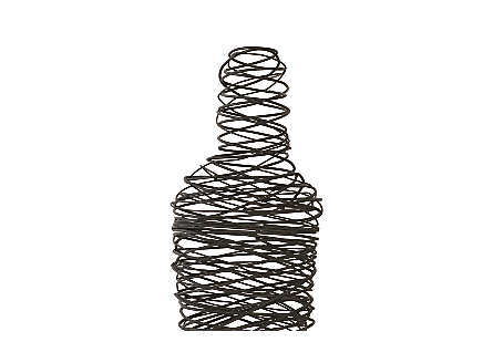 Abstract Wire Man Floor Sculpture SM