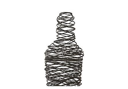 Abstract Wire Man Floor Sculpture SM