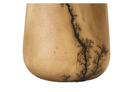 Lightning Vase Mango Wood, Tall