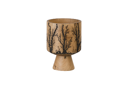 Lightning Vase Mango Wood, Cup Shape