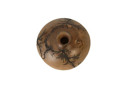 Lightning Vase Mango Wood, Short