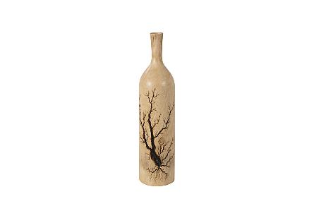 Lightning Bottle Mango Wood, Long Neck