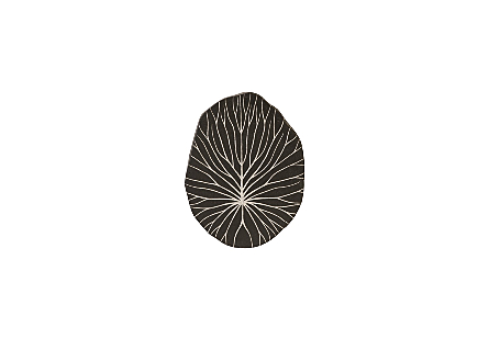 Rivulet Wall Tile Chamcha Wood, Silver Leaf on Black
