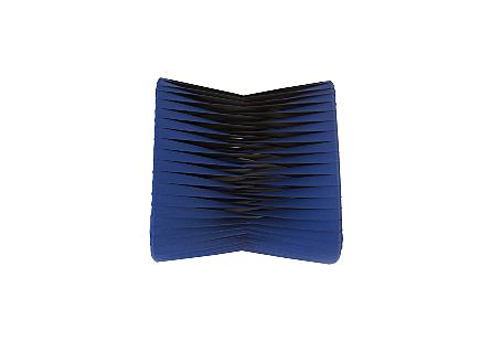 Seat Belt Ottoman Blue/Black