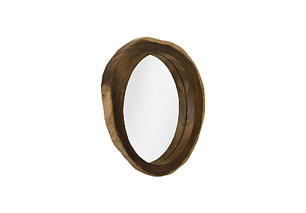 Freeform Chamcha Wood Mirror