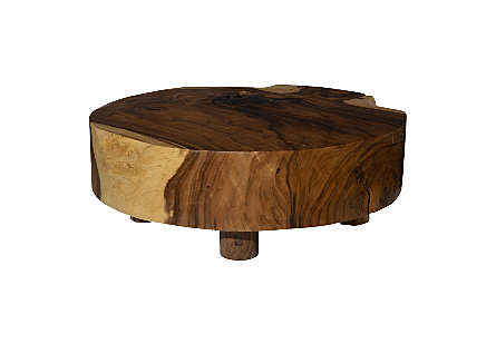 Chamcha Wood Coffee Table Round