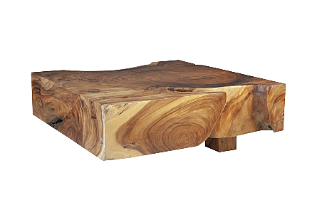Chamcha Wood Coffee Table Square, Wood Legs