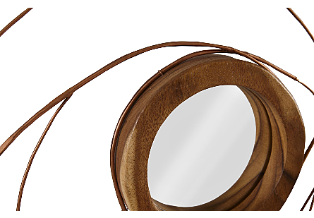 Nest Mirror Chamcha Wood/Wire, Copper, SM