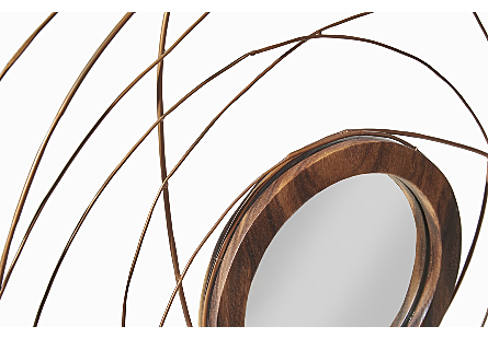Nest Mirror Chamcha Wood/Wire, Copper, LG