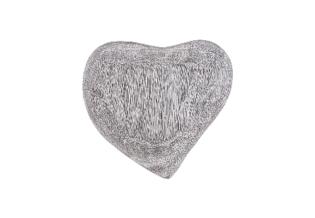 Heart Wall Tile Chamcha Wood, Grey Stone Finish