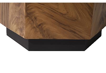 Honeycomb Side Table Chamcha Wood, Iron Base