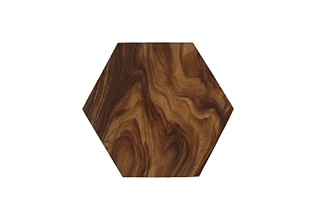 Honeycomb Side Table Chamcha Wood, LG
