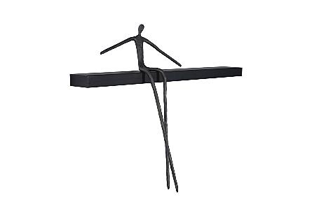 Moveable Man on Shelf Sitting, C