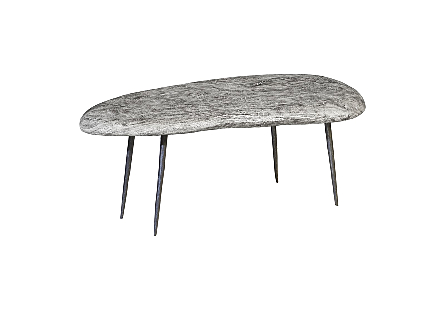 Skipping Stone Coffee Table With Forged Legs SM