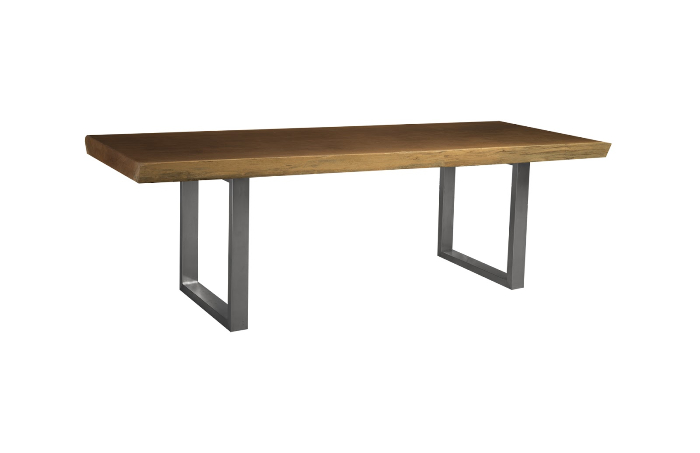 Live Edge Dining Table Merbau Wood Ss Legs Outdoor