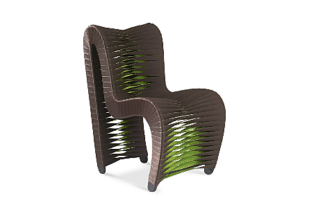 Seat Belt Dining Chair Brown/Green