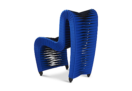 Seat Belt Dining Chair Blue/Black