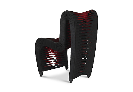 Seat Belt Dining Chair Black/Red