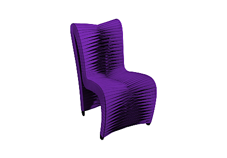 Seat Belt Dining Chair, High Back Purple