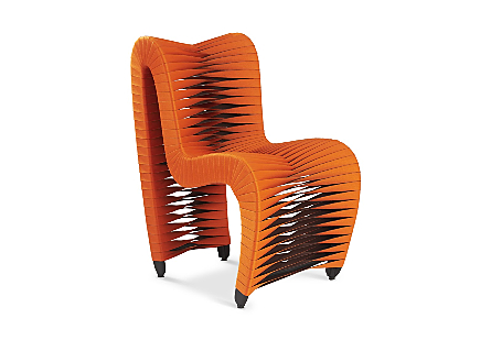 Seat Belt Dining Chair Orange