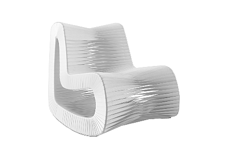 Seat Belt Rocking Chair White