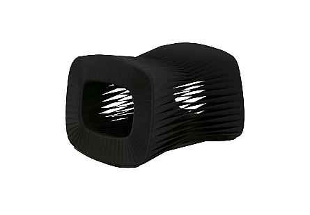 Seat Belt Ottoman Black/Black