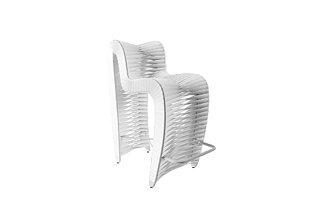 Seat Belt Bar Stool White